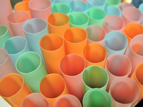 macro straws colorful