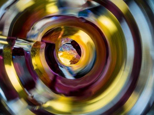 macro  spiral  mirror