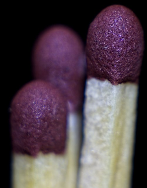 macro  matches  close-up
