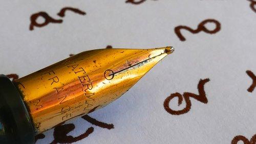 macro  pen  paper