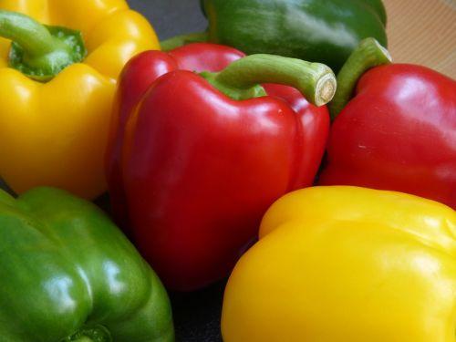 makro,Uždaryti,paprika,daržovės,geltona,makrofotografija,raudona,žalias,vaisiai