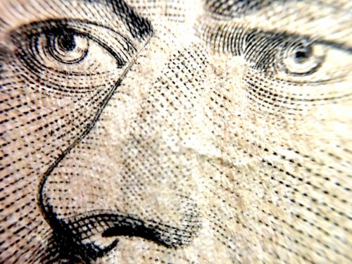 Macro Shot Of Jefferson's Face