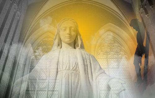 madonna mother of god sculpture