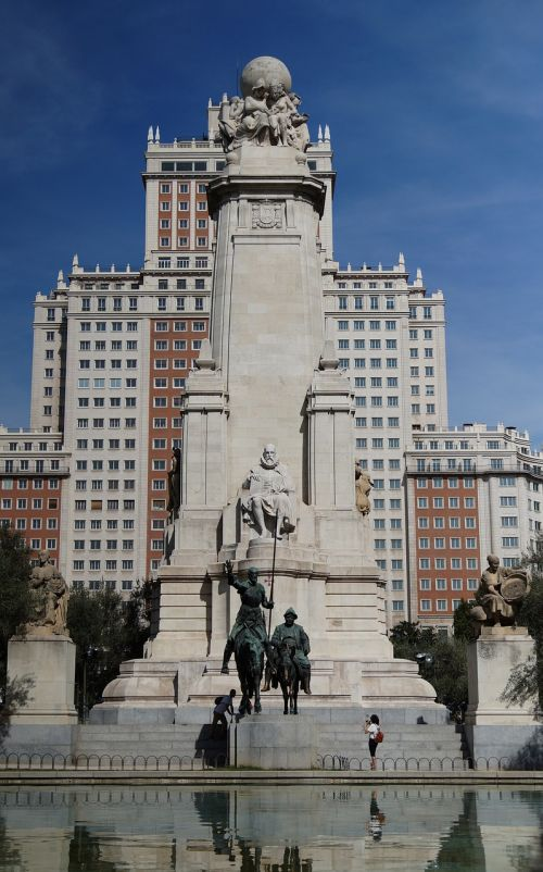 madrid cervantes monument city