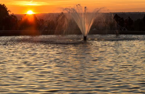 madrid fountain sunset