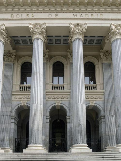 madrid stock exchange building columns