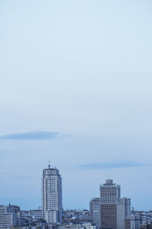 madrid tower spain building skyline
