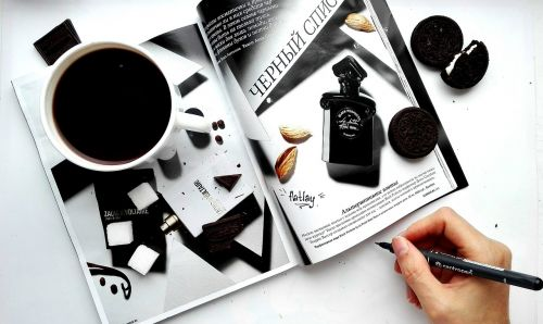 magazine gloss coffee