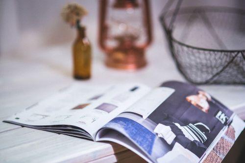 magazine newspaper open