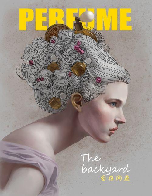 magazine cover insert art