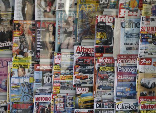 magazines kiosk press