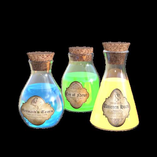 magic potion bottles cork