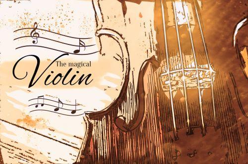 magical violin art