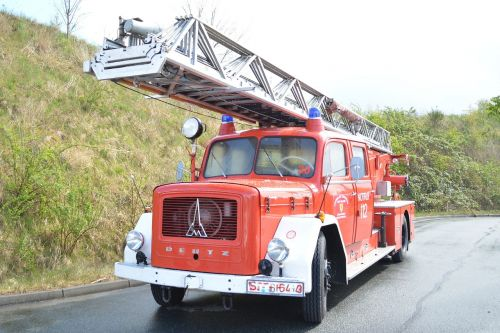 magirus fire truck turntable ladder