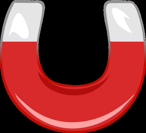 magnet horseshoe red
