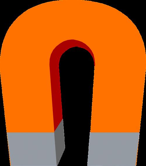 magnet horseshoe isolated