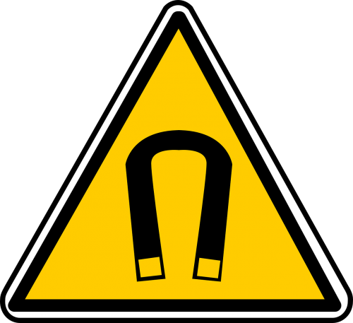 magnetic warning caution