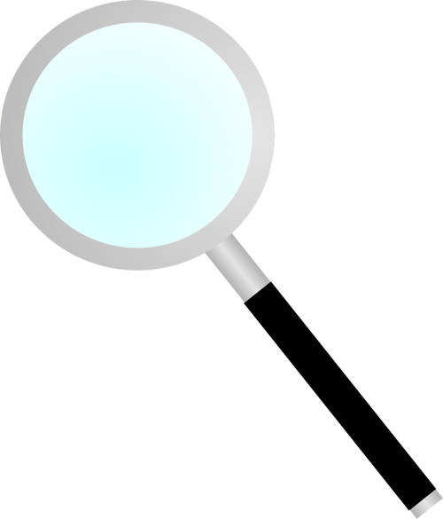 magnifier magnifying glass blue
