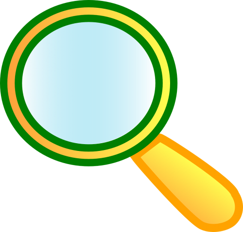 magnifying glass lens