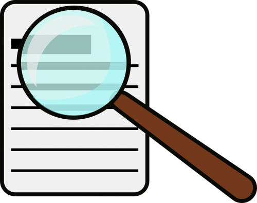 magnifying glass document