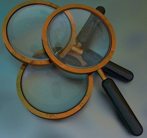 magnifying  lens  enlarge