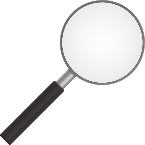 magnifying glass zoom detective