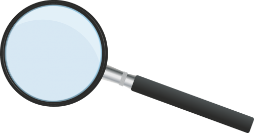 magnifying glass increase search