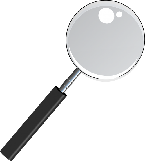 magnifying glass see thru transparent