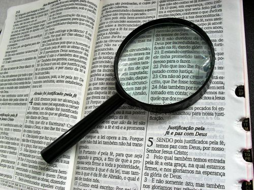 magnifying glass bible bibliology