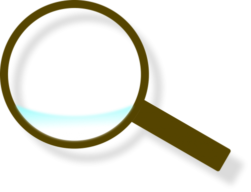 magnifying glass glass wood