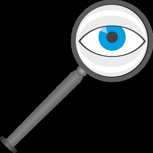 magnifying glass eye lens