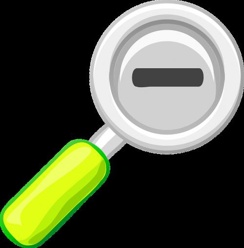 magnifying glass lens minus