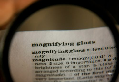magnifying glass word definition