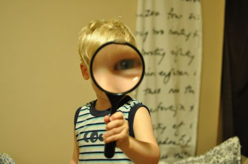 magnifying glass child funny