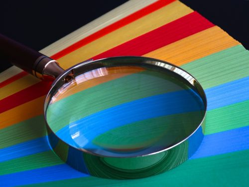 magnifying glass quality paper