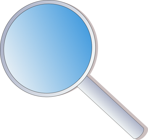 magnifying lens glass office