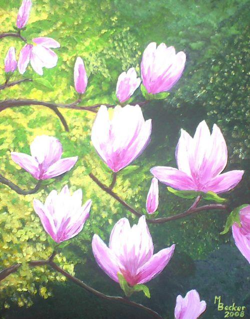 magnolia painting image