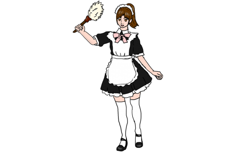 maid housekeeper cleaning