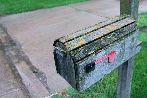 mail  mailbox  wood