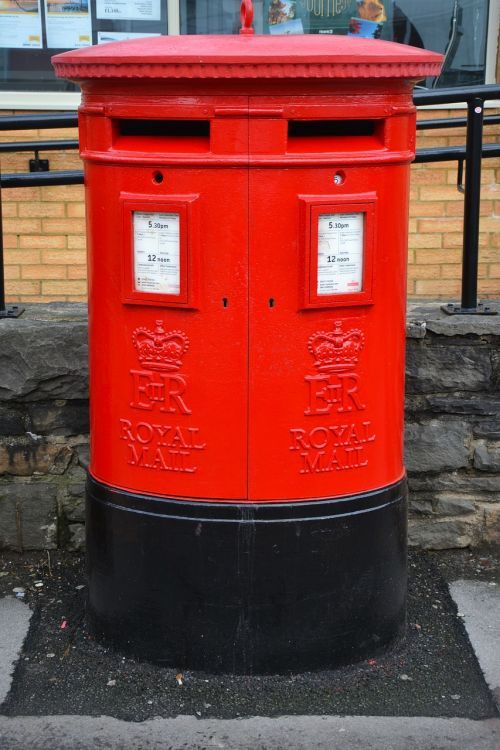 mail box post box red