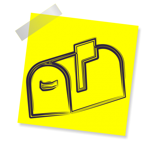mail box sign icon