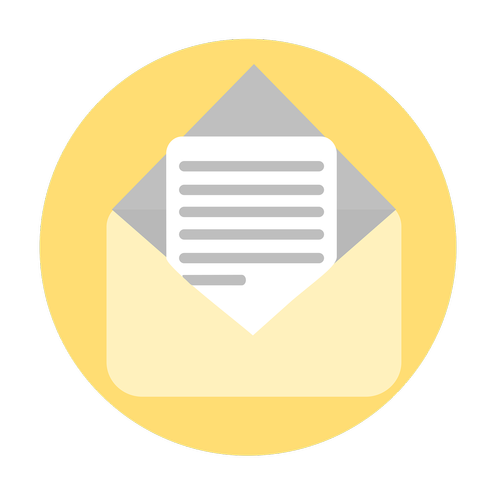 mail icon  letter icon  button