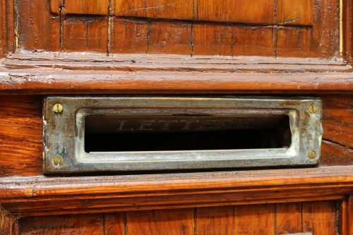 mail slot mail letters