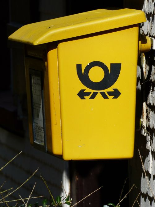 mailbox yellow letters