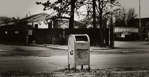 mailbox urban black and white