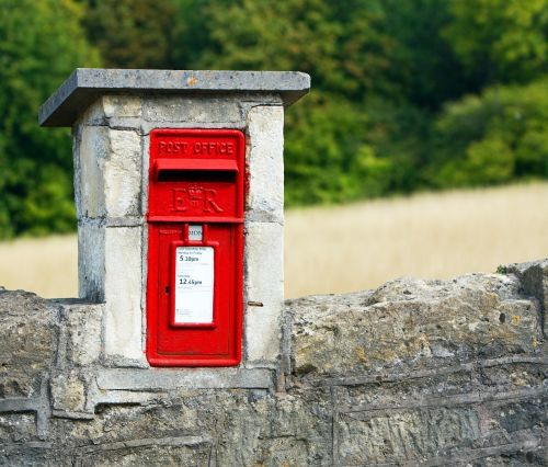 mailbox postbox red