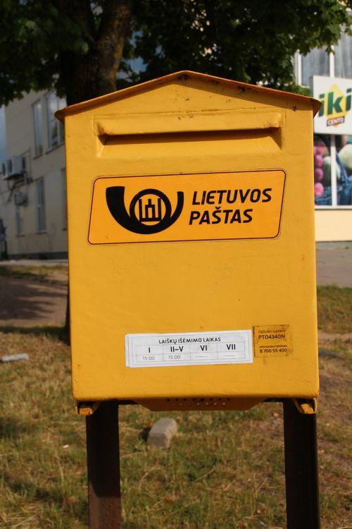 mailbox lithuania yellow