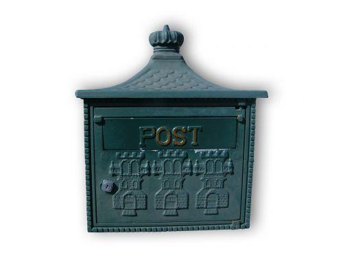 mailbox post blue