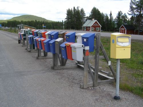 mailbox letter boxes post