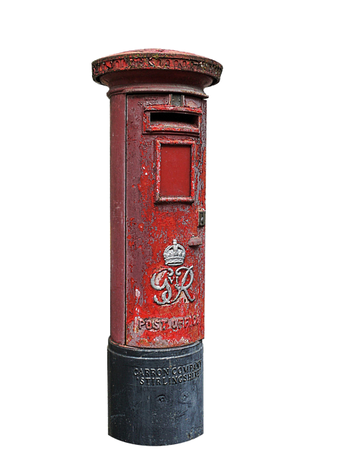 mailbox red post